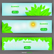 Floral banner set. Vector illustration — Stock Vector
