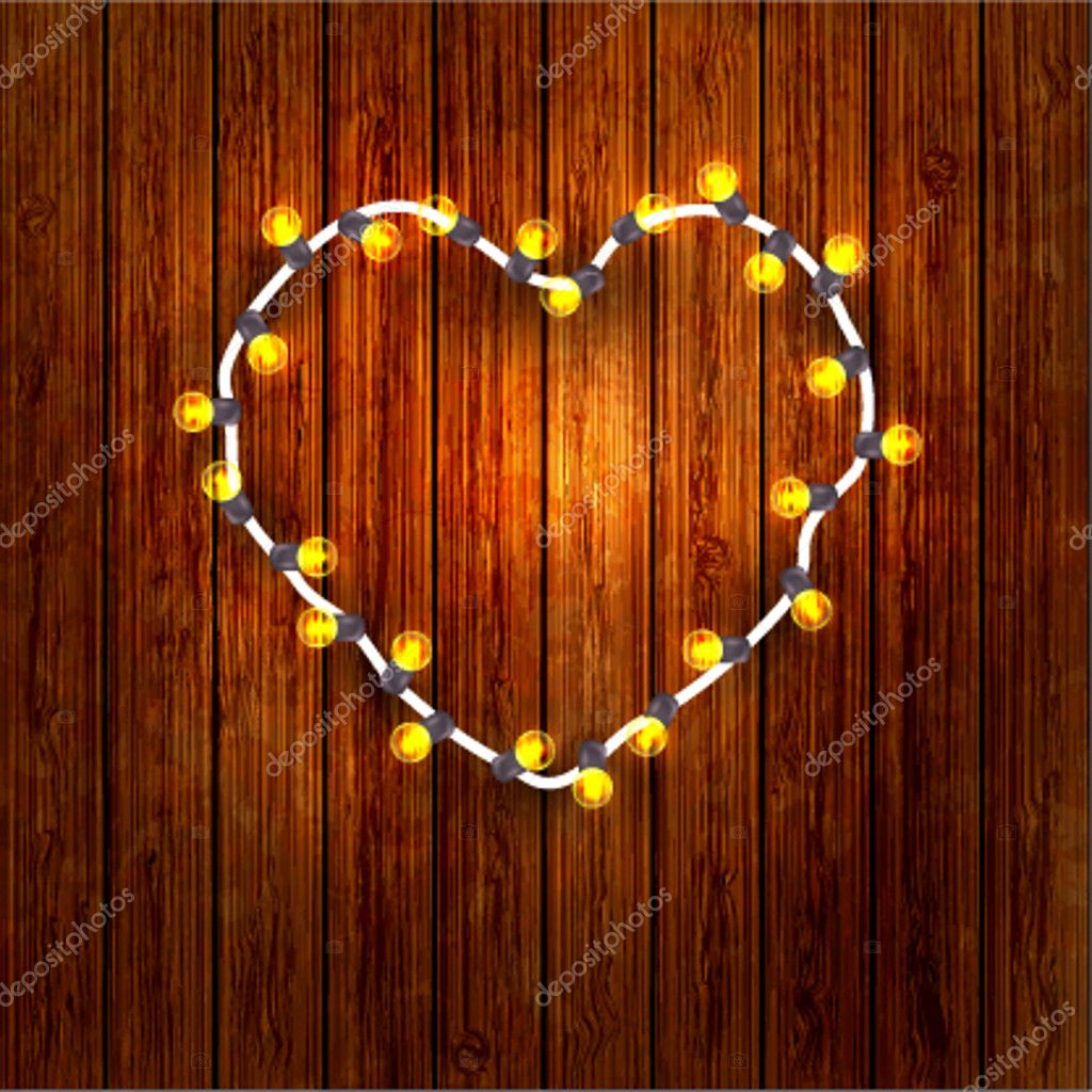 Concept in the form of a garland of the heart. for Valentine's Day. Vector illustration — Stock Vector #8609124
