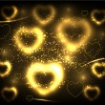 Golden hearts background. Vector illustration — Stock Vector #8634241