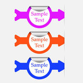 Vector stickers or labels — Stock Vector