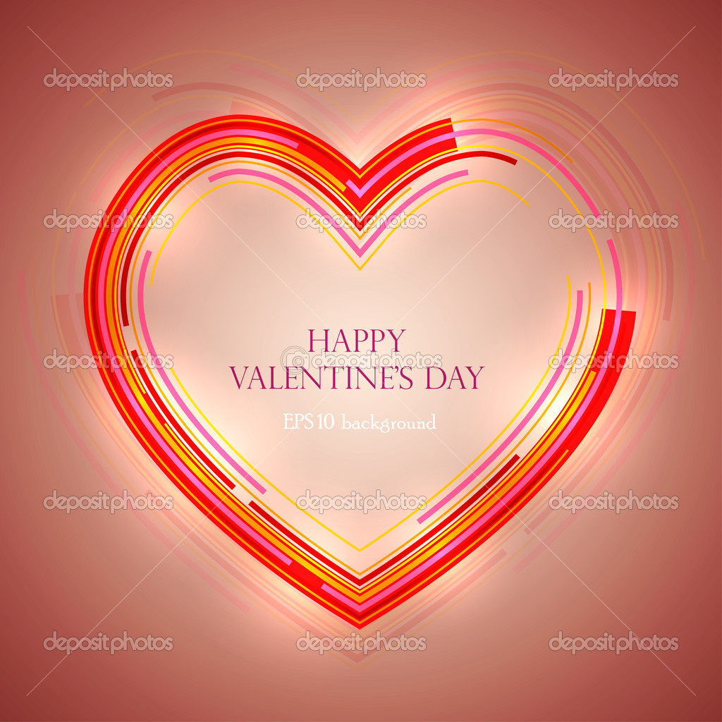 Vector abstract valentine's day background  Stock Vector #8919256