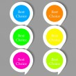 Vector bubble speech stickers set with place for your text — Stock Vector