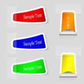 Vector pegatinas con lugar para su texto. eps 10 — Vector de stock