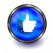 Vector thumb up button. Easy to edit — 图库矢量图片