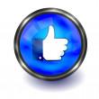 Vector dedo no botão. fácil de editar — Vetorial Stock