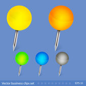 Vector business clips set. Easy to edit — Stock Vector