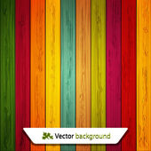 Vector colorful wooden background. Eps10 — Stock Vector