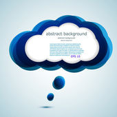Vector glossy computer cloud. bubble speech. Easy to edit. Eps10 — Stock Vector