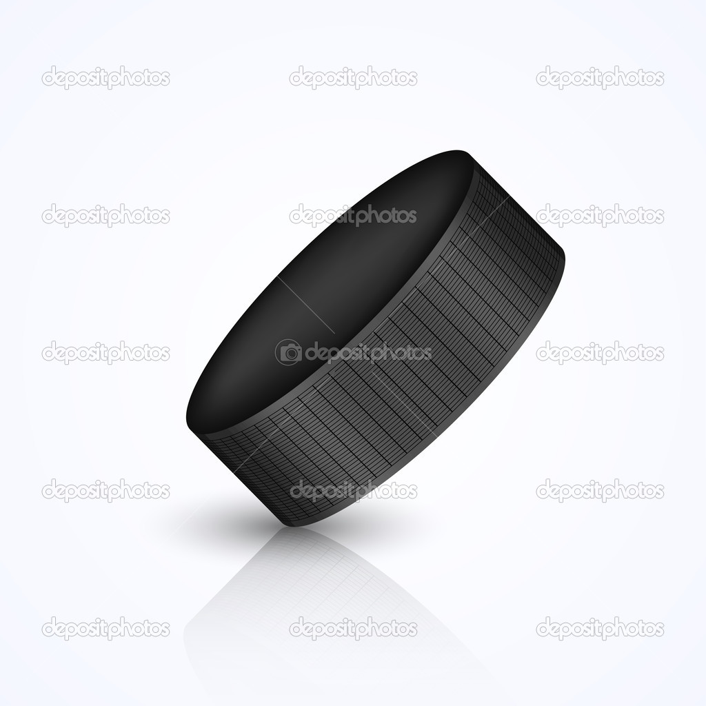 Vector hockey puck isolated on white — Stock Vector #9766422