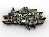 Environment words — Stock Photo