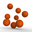 Stock Photo: Basket ball jumping