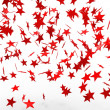 Falling red stars — Stock Photo