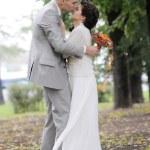 novia y el novio de besos — Foto de Stock