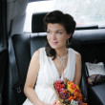 Beautiful young bride portrait — Stock Photo