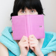 Young woman with diary — Stock Photo #9299885
