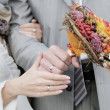 Stock Photo: Bride and groom's hands