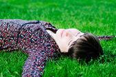 Felice giovane donna — Foto Stock