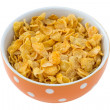 Cornflakes in the bowl - Stock Photo