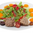 Stock Photo: Boiled meat with sausages and vegetable salad