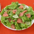 Salad with salted salmon — Stock Photo #8032877
