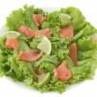 Salad with salted salmon — Stock Photo #8032887