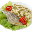 Fried swordfish with rice — Stock Photo #8033160