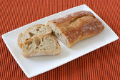 Bread on the plate — Stock Photo