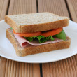 Royalty-Free Stock Photo: Sandwich with ham