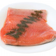 Stock Photo: Salted salmon