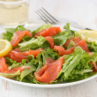 Salad with salted salmon — Stock Photo #8091143