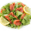 Salad with salted salmon — Stock Photo #8091162