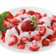 Strawberry with yogurt — Stock Photo