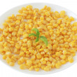 Stock Photo: Corn on plate