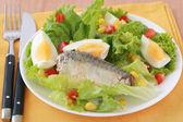 Salad with fish — Stock Photo