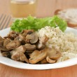 Mushrooms with boiled rice — Photo #8213298