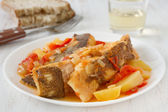 Fish stew on the plate — Stock Photo