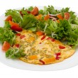 Omelet with salad — Stock Photo #9139153