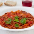 Boiled beans with tomato — Photo