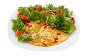 Omelet with salad — Stock Photo