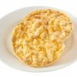 Corn diet cookies on the plate — Stock Photo
