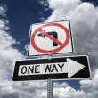 Stock Photo: Traffic sign