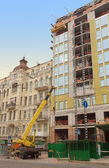 Building under construction in Kyiv, Ukraine — Stock Photo