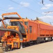 Stock Photo: Railway heavy duty machines train on the station