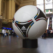The official matchball of EURO 2012 POLAND - UKRAINE, on the Cen — Stock Photo