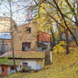 Autumn, old house. Kreschatik street, Kyiv — Stock fotografie