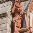 Statue of Saint Paul on facade of St. Nicholas RomCatholi — Stock Photo #8065615