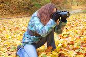 Fotograf přírody v práci — Stock fotografie