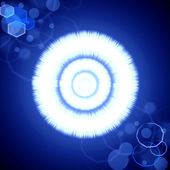 Abstract blue radiance background with lens flare — Stock Photo