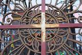 Fragment of decorative lattice. Saint-Petersburg Buddhist Temple — Stock Photo