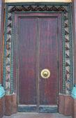 Close up of temple doors. Saint-Petersburg Buddhist Temple Gunze — Stock Photo